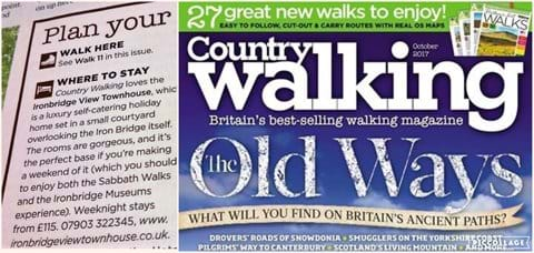 The house is recommended & loved by the 'COUNTRY WALKING' magazine
