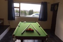 Our Games Room with pool table and darts board