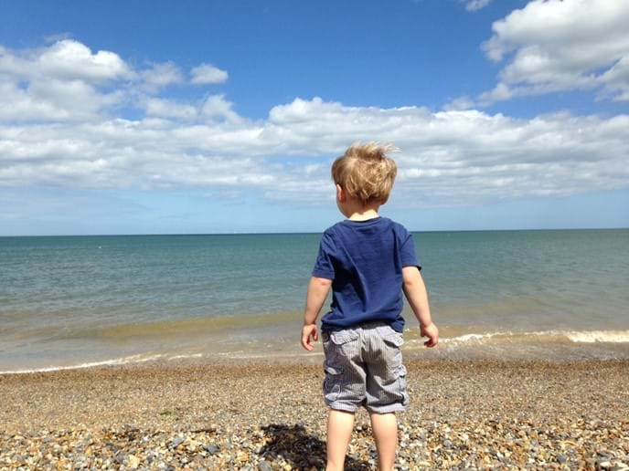 On the beach at Weybourne