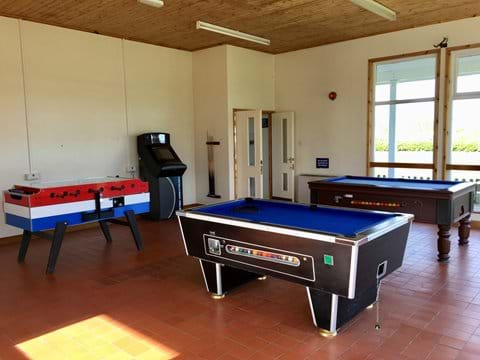 Indoor games room and soft play area at Windrush