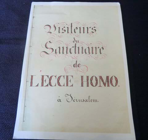 First Visitors' Book - Ecce Homo