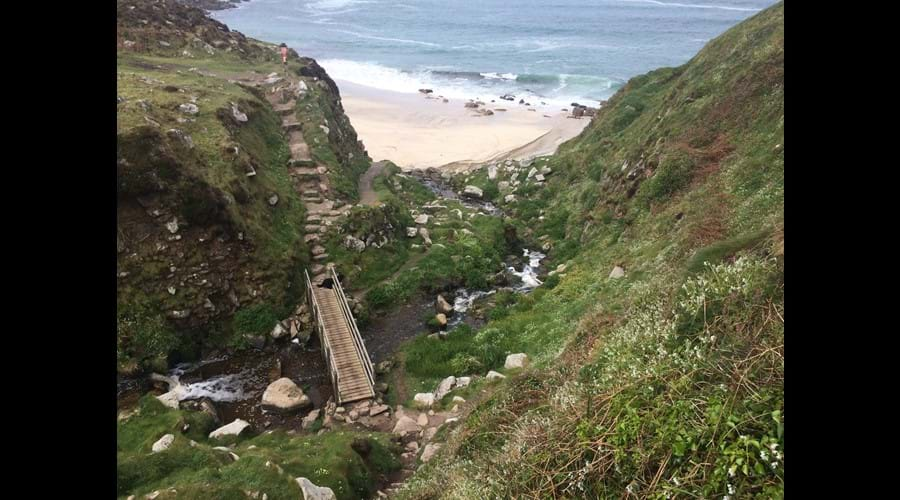 South West coastal path by Cape Cornwall
