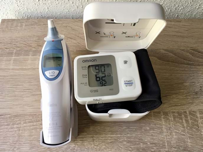 Keep your health in check. Blood pressure monitor and thermometer available in the apartment.
