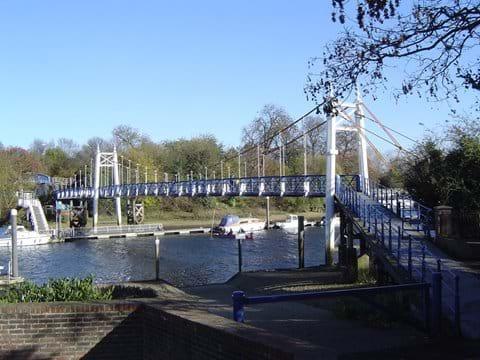 Teddington Lock on the River Thames