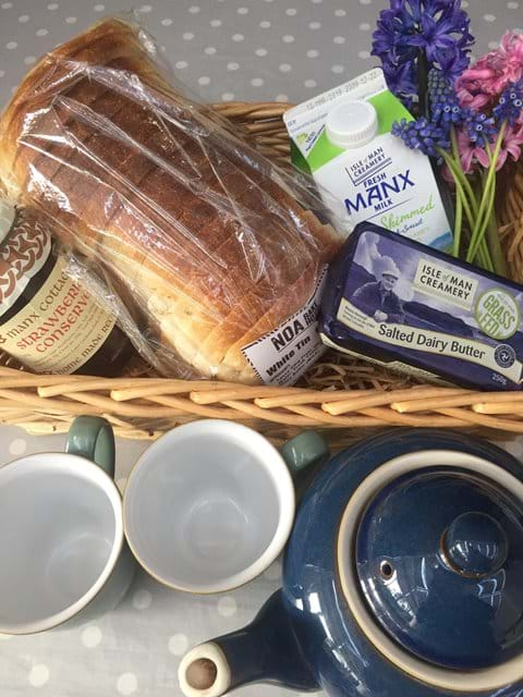 Complementary breakfast basket special offer!