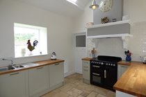 Kitchen is well furnished with lovely views of the surrounding countryside