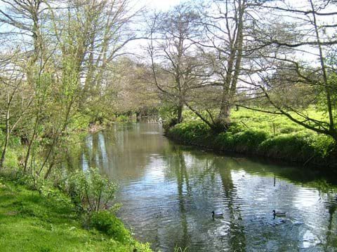 The waveney river at the bottom of the garden