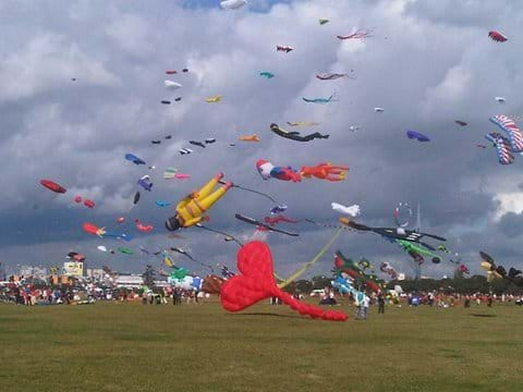 Kite festival on the common