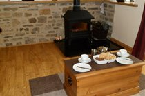 Tea & scones by the stove