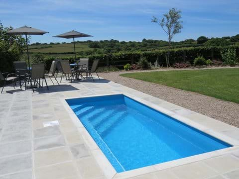 The heated plunge pool