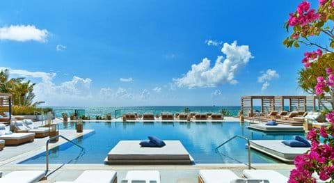Shared Pool for South Beach Vacation Rentals