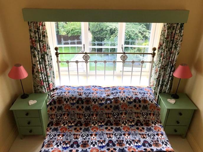 Double Bedroom with doggie throws