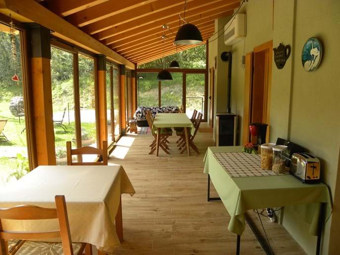the veranda for breakfast and relaxing