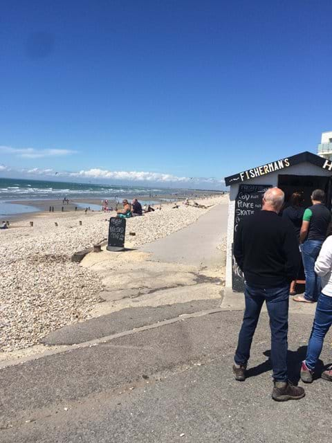 The Fisherman's Shack at Shore Rd, E Wittering. Open 11.30-1 and 4-5pm every day.
