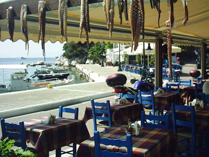 Skiathos old harbour,