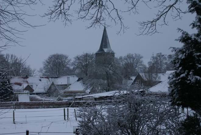 A snowed-in Diever village