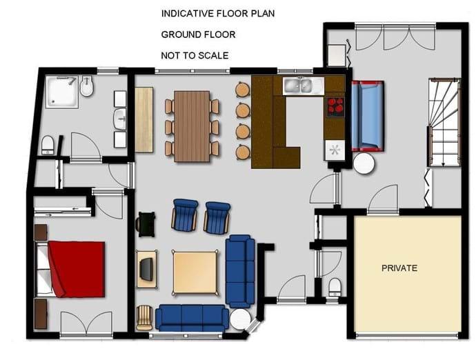 Plan Laroque Villa Rez de chaussée