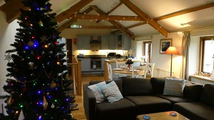 Nutcombe Cottage at Christmas