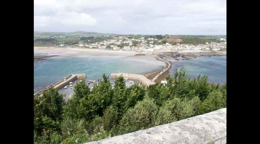 View of Marazion from St Micheals Mount