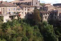 Montolieu, from bridge over River Alzeau