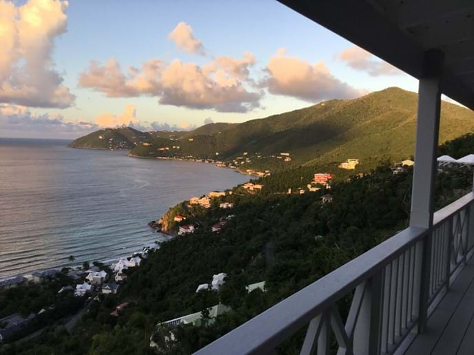 Views over to Sage Mountain