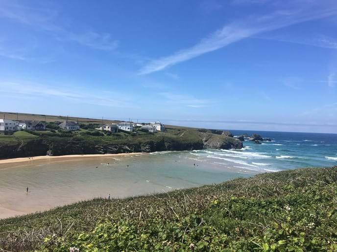 Porthcothan bay - 5 minutes walk over the headland