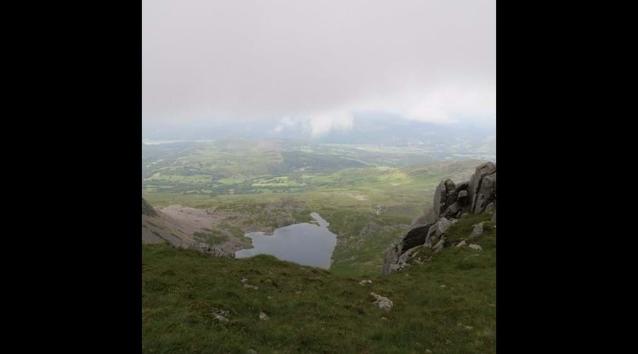 Almost at the top of Cadair Idris....