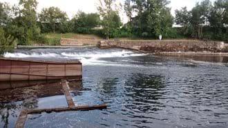 Weir near the house