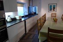 New gloss white kitchen with quartz worktops