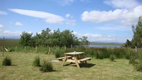 Garden picnic table.