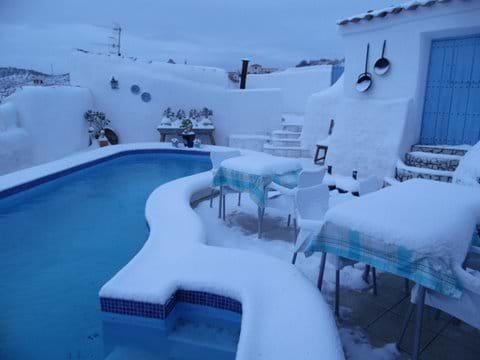 Snow January 2017 at Restaurante Los Lucas.