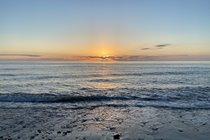 Sunset at Penbryn National Trust Beach ...
