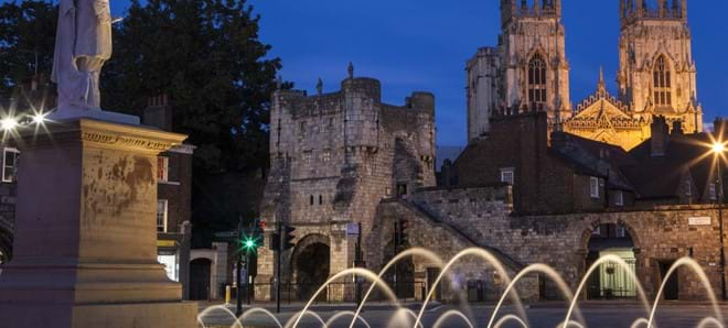 The Minster at night