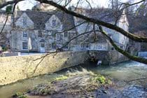 View of the Mill and Mill House from across Wellow Brook