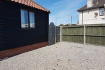 secure back garden with bolted gate