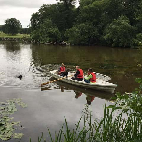Boating at Berrington Hall (NT)