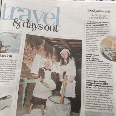 Tryst Cottage featured in the Yorkshire Post Travel Magazine March 2019