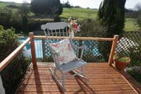 Terrace off the Farmhouse Kitchen overlooking Pool