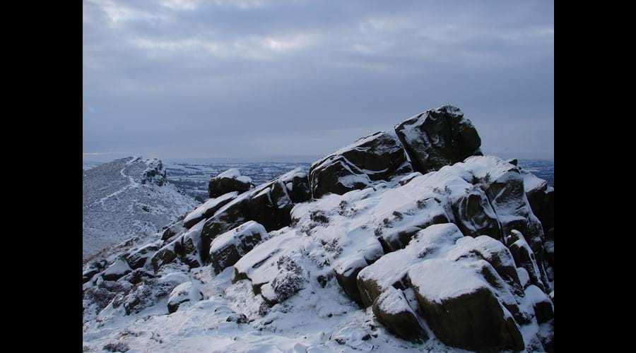 Hen Cloud and The Roaches in winter