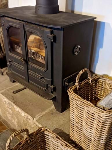 ...and a log burner for cosy nights