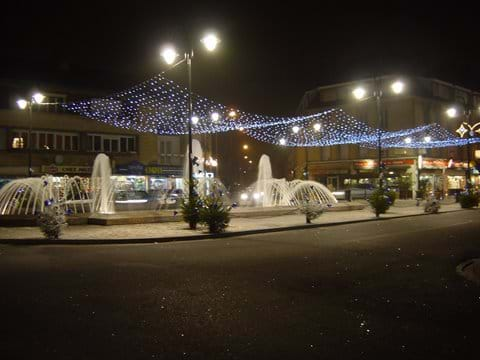 Abbeville at night