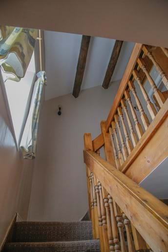 Laverock Lodge stairs and beams