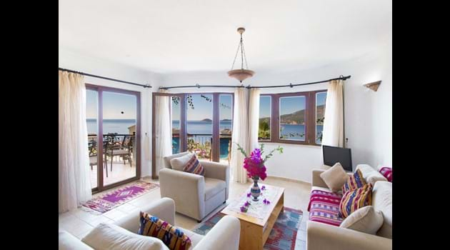 OPen Plan Lounge with Sea Views