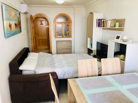 Holiday apartment, livig room, sofa bed