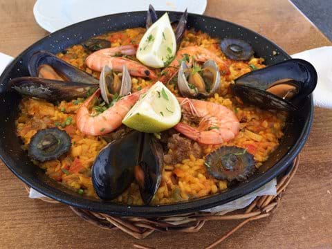 Paella - from El Golfo (but also available in the local beach bar by pre order!)