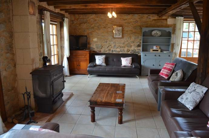 The Railway Cottage - 10 person gîte - large lounge area