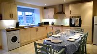 Enjoy spending time together in the large kitchen