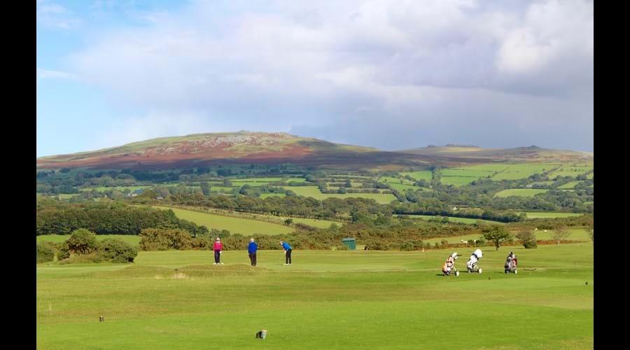 Play Tavistock golf course and enjoy the spectacular scenery