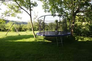 Trampoline and swings