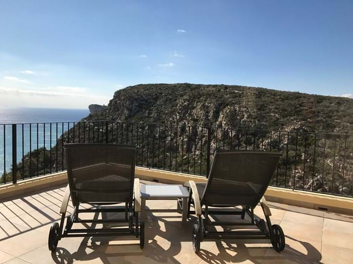 The perfect spot for sunbathing - south facing and with sea views